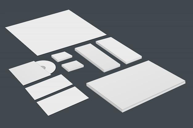 Modelo de maquete estacionário de marca