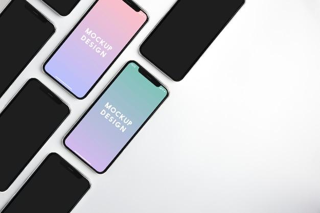 Modelo de maquete premium tela do telefone móvel