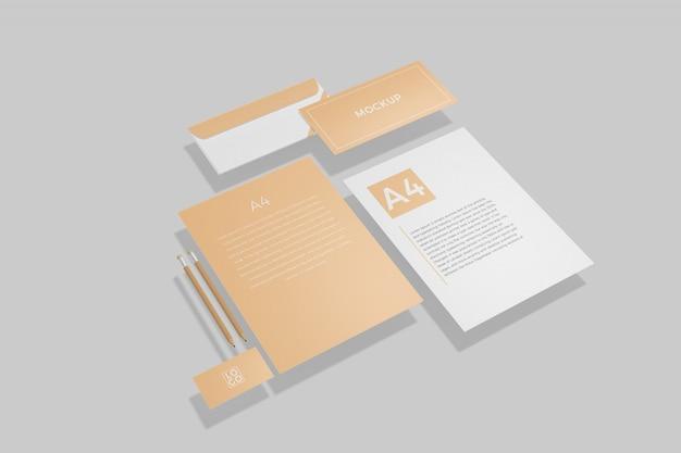 Modelo de marca de papelaria
