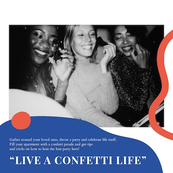 Modelo de marketing de evento de festa anúncio de mídia social psd para organizadores
