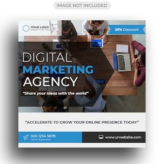 Modelo de marketing digital para publicação em mídia social