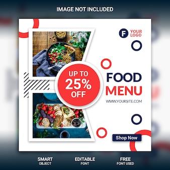 Modelo de menu de publicação do instagram