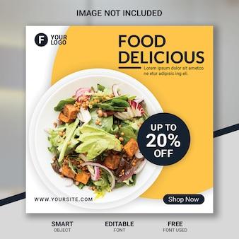 Modelo de mídia social de restaurante de comida