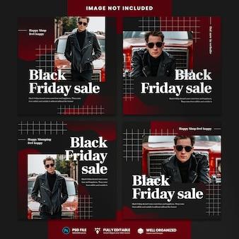 Modelo de mídia social de venda da black friday