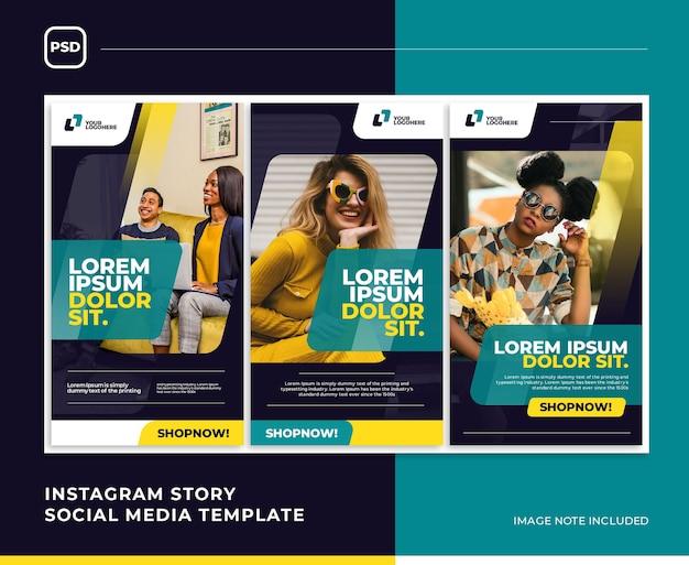 Modelo de mídia social moderna da moda