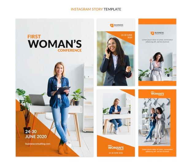 Modelo de mídia social para histórias do instagram para negócios