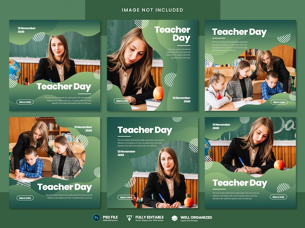 Modelo de mídia social para o dia do professor