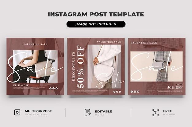 Modelo de mídia social para venda de bolsa dos namorados