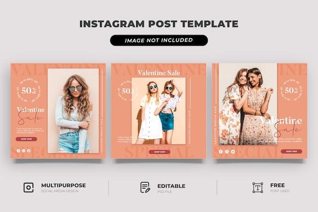 Modelo de mídia social para venda de dia dos namorados em loja de moda