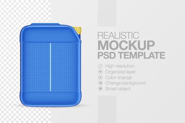 Modelo de mock up realista de galão de plástico