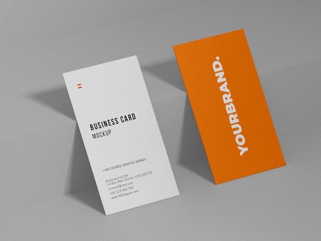Modelo de mockp de cartão de visita