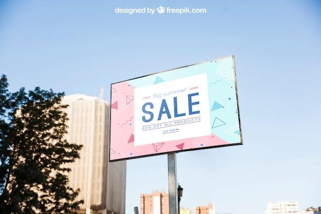 Modelo de mockup billboard