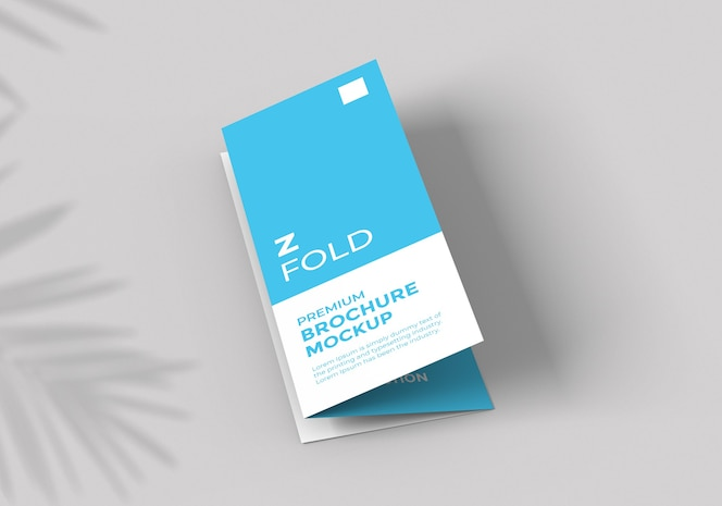Modelo de modelo de brochura com dobra z