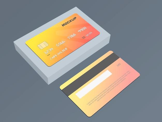 Modelo de modelo de cartão inteligente de cartão de débito
