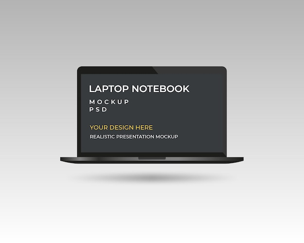 Modelo de modelo de dispositivo de notebook laptop