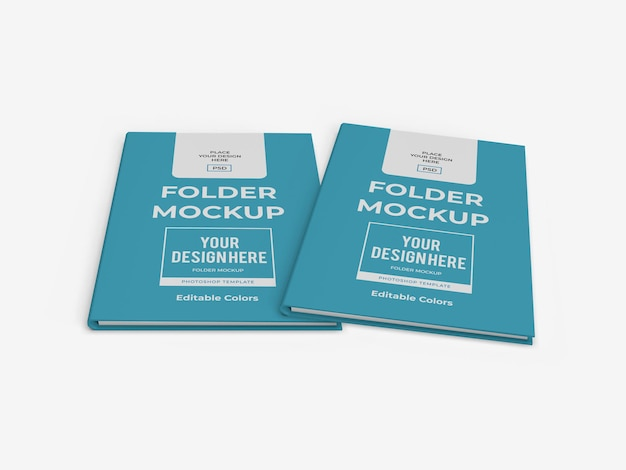 Modelo de modelo de pasta de papel corporativo