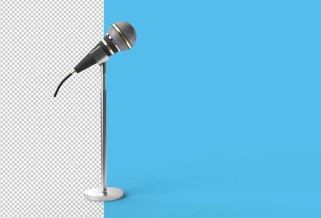 Modelo de modelo de prêmio de música de microfone retrô, karaokê, rádio transparent psd file.