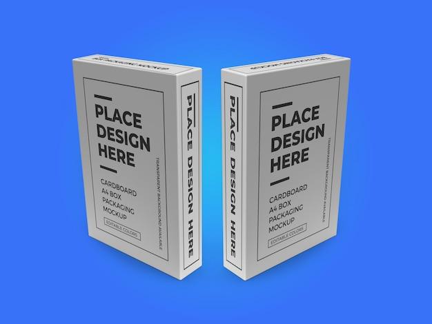 Modelo de modelo psd de caixa de papel papelão a4
