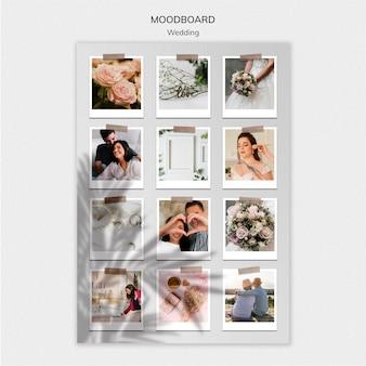 Modelo de moodboard de casamento elegante