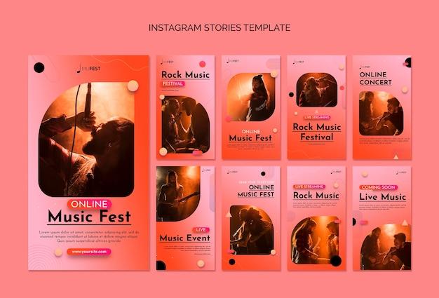 Modelo de música até mesmo histórias do instagram