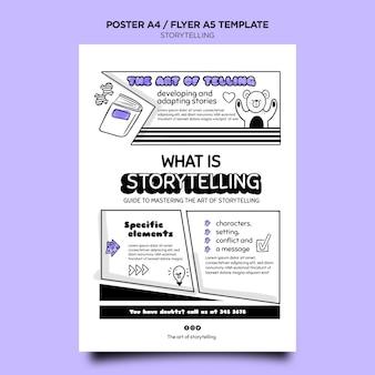 Modelo de narrativa para impressão de marketing