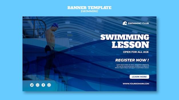 Modelo de natação para o conceito de banner
