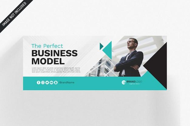Modelo de negócio - capa do facebook