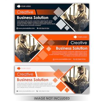 Modelo de negócio criativo de banner