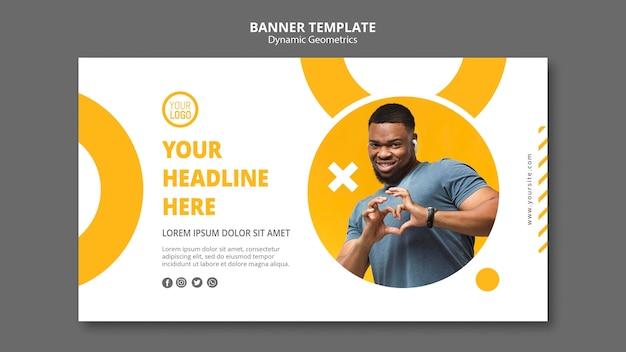 Modelo de negócios minimalista de banner