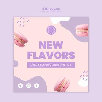 Modelo de novos sabores de macarons