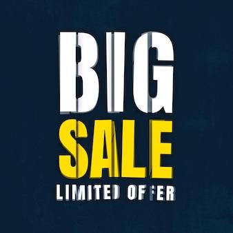 Modelo de oferta limitada de grande venda