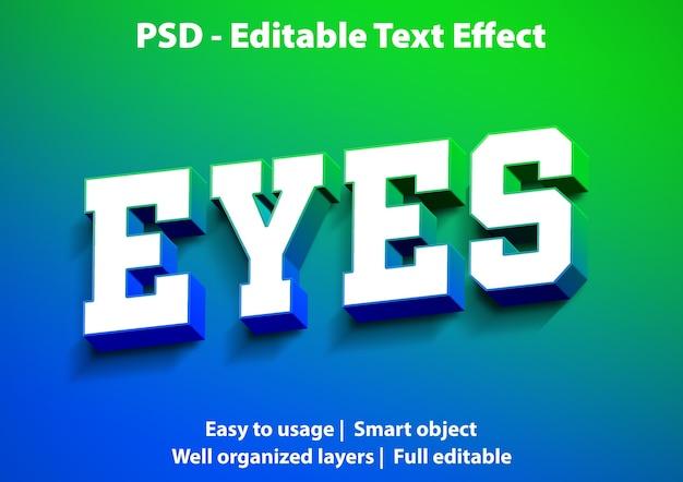 Modelo de olhos de efeito de texto