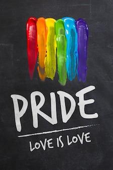 Modelo de orgulho gay de quadro-negro
