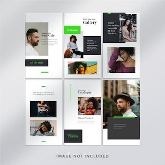 Modelo de pacote de histórias de instagram de moda minimalista
