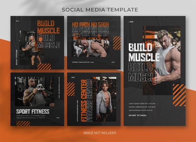 Modelo de pacote de pacote de mídia social de esportes
