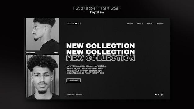 Modelo de página da web de compras digitais