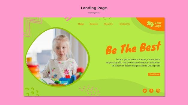 Modelo de página da web do jardim de infância