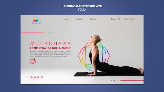 Modelo de página de aterrissagem de conceito de ioga