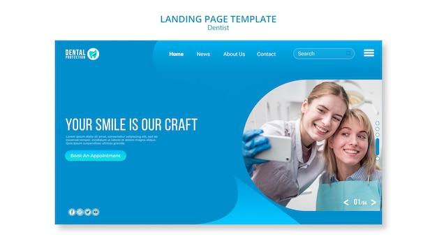 Modelo de página de aterrissagem de dentista