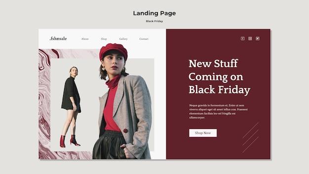 Modelo de página de destino black friday