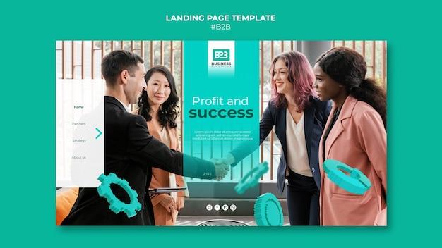 Modelo de página de destino business to business