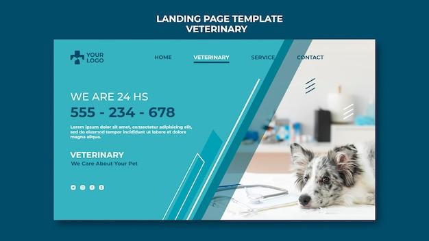 Modelo de página de destino clínica veterinária