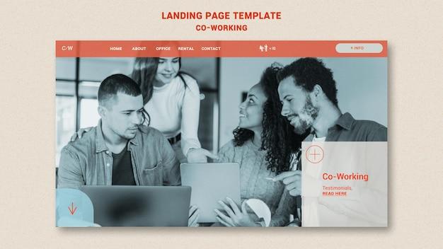 Modelo de página de destino colaborativo