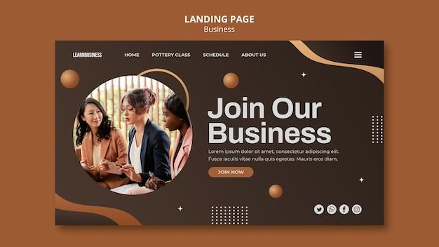 Modelo de página de destino comercial com foto