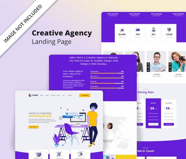 Modelo de página de destino da agência criativa