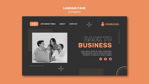 Modelo de página de destino da empresa