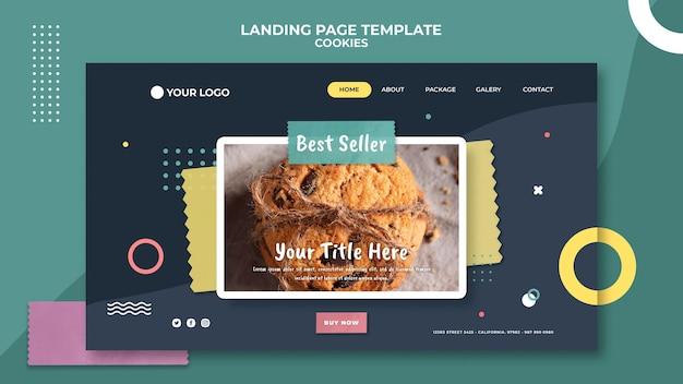 Modelo de página de destino da loja de biscoitos