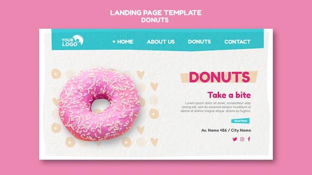 Modelo de página de destino da loja de donuts