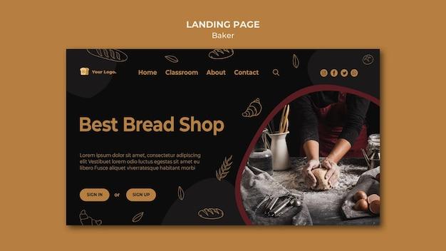 Modelo de página de destino da melhor padaria