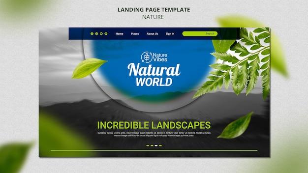 Modelo de página de destino da natureza